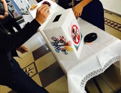 Акция студентов АКЖТ — «Никотину-Витамин»